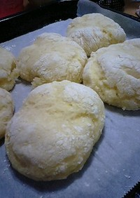 簡単★発酵なし!HMと豆腐のみで白パン♪