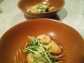 簡単☆水菜と油揚げのさっと煮