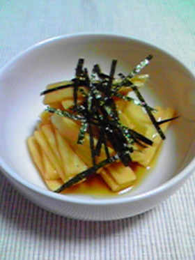 長芋の甘酢醤油
