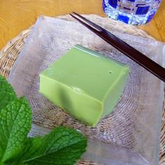 ひ~んやり☆デザートな抹茶豆腐