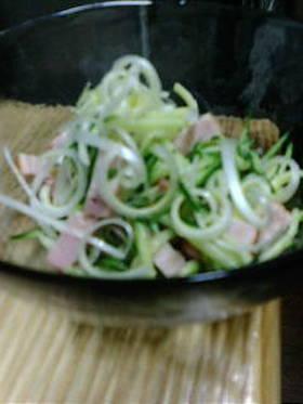 きゅうりとネギチャーシューの中華サラダ