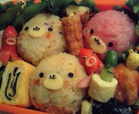 キャラ弁♪2色のゴマちゃん弁当