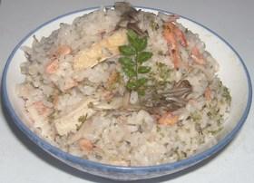 川海老&しらす&舞茸&油揚げ炊き込みご飯