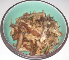 薩摩揚げ&大和芋&舞茸のタレ炒め