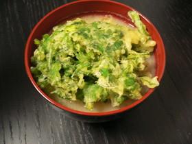 ハマる!春菊の天ぷらのせ味噌汁(春菊限定