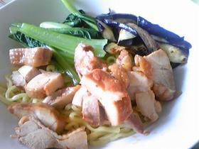 鶏チャーシューのつけ麺