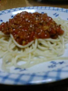 おうちで簡単本格ミートソーススパゲティ