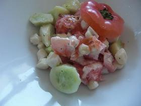 小柱とトマトのおもてなしサラダ