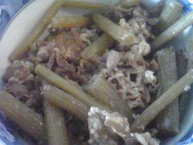 ふきと牛肉の煮物