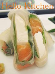 サーモン&クリームチーズの生春巻きの写真