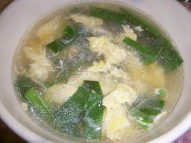 ガラスープ(春雨とニラ玉スープ)