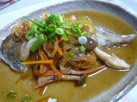 カレイのムニエル野菜たっぷり南蛮風