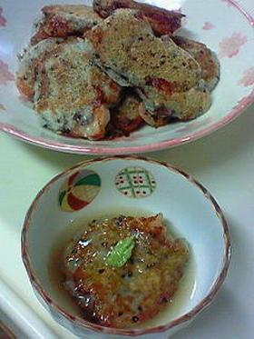 長芋とエビの蓮根饅頭割烹風