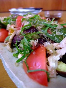 【旬】豚と夏野菜の網焼き・さっぱりポン酢