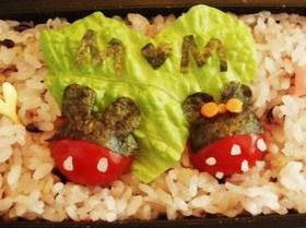 キャラ弁★ミニトマトでミッキー&ミニー
