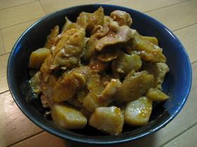 ★鶏肉とごぼうとこんにゃくのピリ辛みそ煮