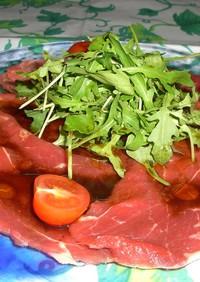 牛肉のカルパチョ、醤油ソース