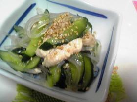 ポン酢で簡単中華風サラダ♪