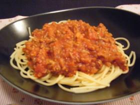 簡単ミートソーススパゲッティ