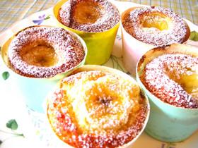 紙コップでバナナなカップケーキ☆