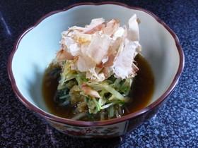3分料理☆水菜・いか燻製でシャキッと浸し