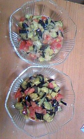 ナスとトマトの2種類サラダ♪