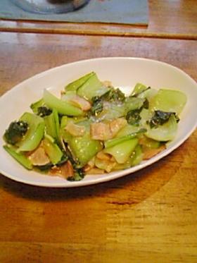 チンゲン菜の中華風炒め