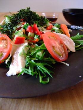【ミツカン】笹身と夏野菜のぶっかけサラダ
