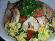 ガッツリ食べたい時のスープ飯 キムチ味の写真