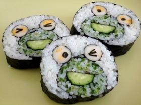 飾り寿司 カエル