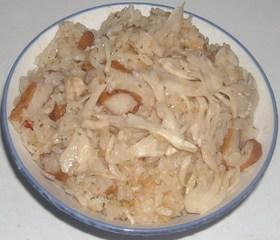 白舞茸&薩摩揚げ入りガーリックライス
