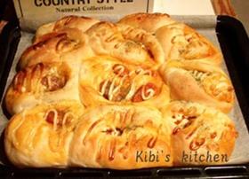 ウィンナーと玉葱のケチャップ炒めパン