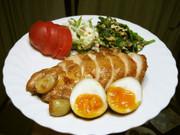 簡単 鶏チャーシュー(半熟卵入り)の写真