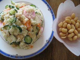 酢大豆のおからポテトサラダ
