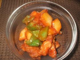 チキン&ポテトのから揚げ甘酢味