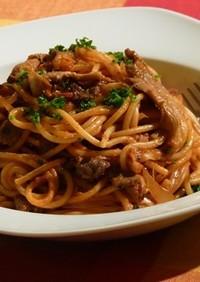 ピリ辛な大人のスパゲッティナポリタン