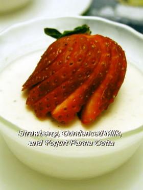苺ミルク味ヨーグルトパンナコッタ