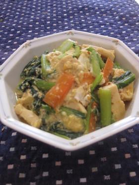 小松菜と高野豆腐の卵とじ