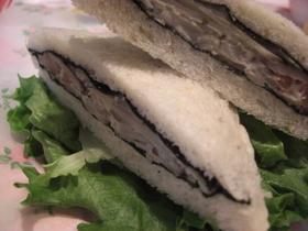 きのこ&ごぼう海苔サンドイッチ