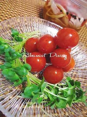 プチトマトと香味野菜のサワー漬け