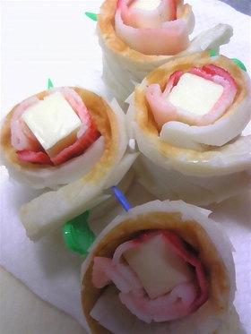 お弁当に!!カニカマ・チーズのちくわ巻き