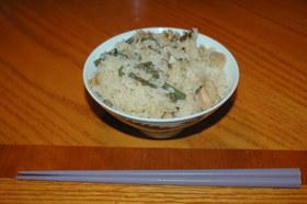 炊飯器で作る☆山菜鶏釜飯