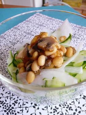 黒酢ジュレのシャキシャキ豆サラダ