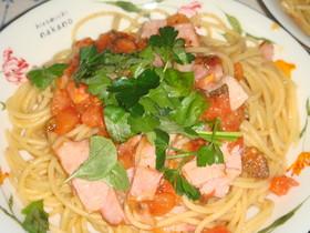 トマトとベーコンのイタリアンパスタ♪