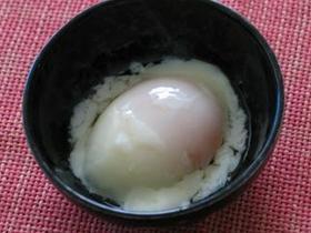 保温鍋で温泉卵