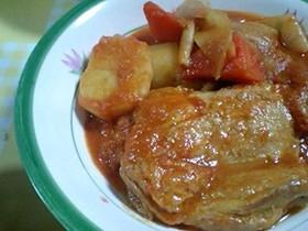 チキンソテーのトマトクリームシチュー
