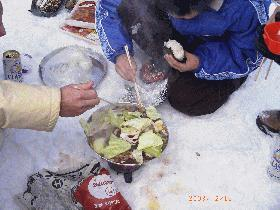 冬山の焼肉