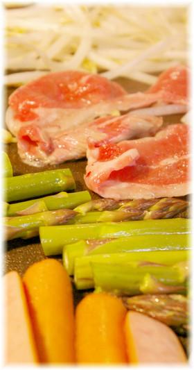 春野菜と生ラムの鉄板焼き(ジンギスカン)