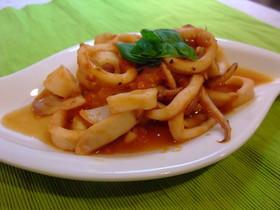 簡単イタリアン★イカのトマト炒め★