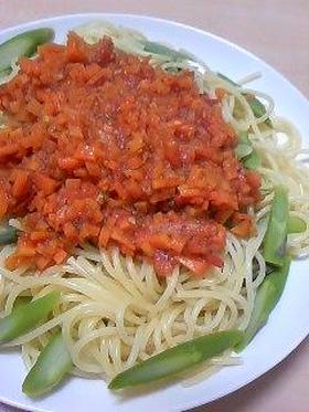 アスパラとトマトパスタ